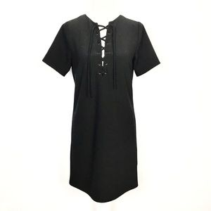 Lucca Tie Neck Shift Dress